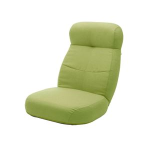 大型 座椅子/フロアチェア 【グリーン】 幅62cm 日本製 スチールパイプ ポケットコイルスプリング 〔リビング〕 - 拡大画像