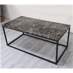 大理石調テーブル ブラウン(マーブル調) 応接テーブル リビングテーブル テーブル ソファテーブル 組立品