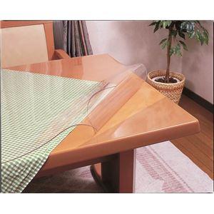 透明テーブルマット 90×120cm - 拡大画像