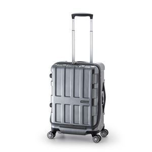 フロントオープン式スーツケース/キャリーバッグ 【ガンメタブラッシュ】 36L 機内持ち込み可 アジア・ラゲージ 『MAX BOX』 - 拡大画像