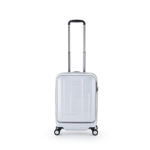 スーツケース/キャリーバッグ 【マットブラッシュホワイト】 36L 機内持ち込み可 アジア・ラゲージ 『Sparkle』