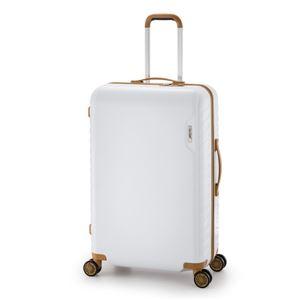 スーツケース/キャリーバッグ 【ホワイト】 90L 手荷物預け無料最大サイズ ダイヤル式 アジア・ラゲージ 『MAX SMART』 - 拡大画像