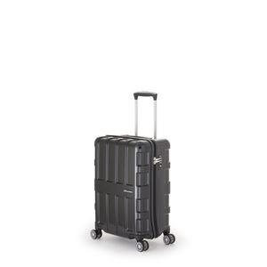 ファスナー式スーツケース/キャリーバッグ 【オールブラック】 40L 機内持ち込み可能サイズ アジア・ラゲージ 『MAX BOX』 - 拡大画像