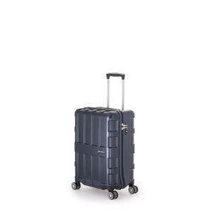 ファスナー式スーツケース/キャリーバッグ 【オールネイビー】 40L 機内持ち込み可能サイズ アジア・ラゲージ 『MAX BOX』 - 拡大画像