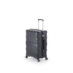 ファスナー式スーツケース/キャリーバッグ 【オールブラック】 60L 軽量 アジア・ラゲージ 『MAX BOX』 - 拡大画像