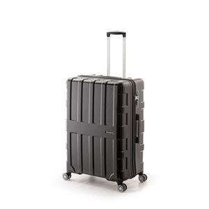 大容量スーツケース/キャリーバッグ 【オールブラック】 96L 軽量 アジア・ラゲージ 『MAX BOX』 手荷物預け無料最大サイズ - 拡大画像