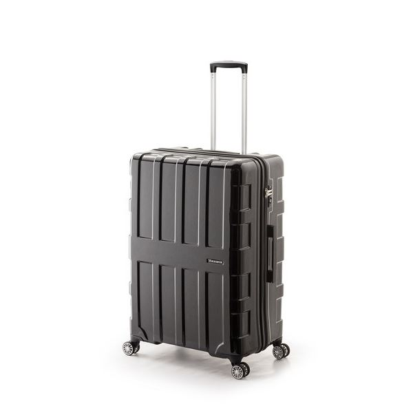 大容量スーツケース/キャリーバッグ 【オールブラック】 96L 軽量 アジア・ラゲージ 『MAX BOX』 手荷物預け無料最大サイズ
