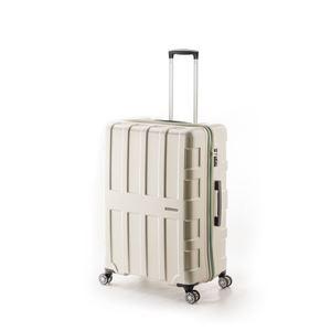 大容量スーツケース/キャリーバッグ 【パールホワイト】 96L 軽量 アジア・ラゲージ 『MAX BOX』 手荷物預け無料最大サイズ - 拡大画像