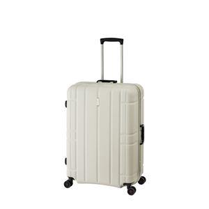 スーツケース/キャリーバッグ 【マットホワイト】 100L 手荷物預け無料最大サイズ TSAロック アジア・ラゲージ 『AliMaxG』 - 拡大画像