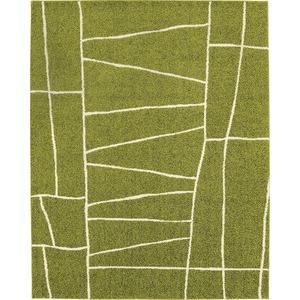 ラグマット カーペット 長方形 ホットカーペット対応 日本製 『ジオーニ』 ライトグリーン 190×240cm - 拡大画像