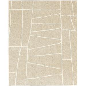 ラグマット カーペット 長方形 ホットカーペット対応 日本製 『ジオーニ』 ベージュ 130×190cm - 拡大画像