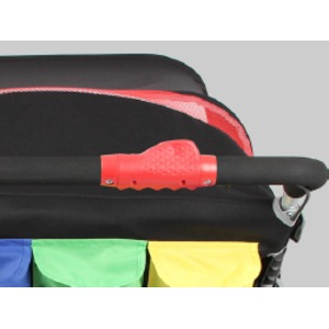 オートブレーキ・折りたたみ自立機能付き・4人乗り高機能モデル 大型ベビーカーFamilidoo(ファミリードゥー) 幼稚園 保育園 お散歩用