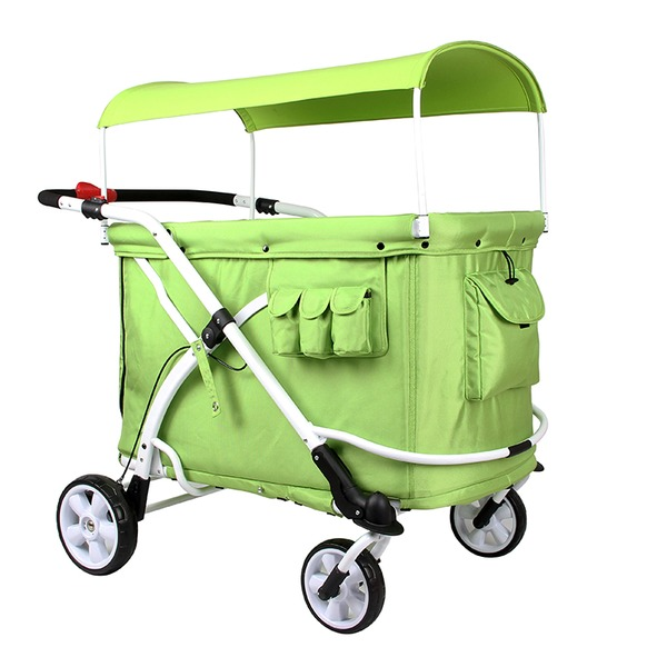 6人乗り高性能ベビーカー「保育園 幼稚園 お散歩用 ベビーカー Familidoo(ファミリードゥー) 軽量・オートブレーキ付き・6人乗りデザインモデル グリーン 緑」