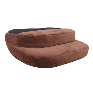 コンパクト 座椅子/フロアチェア 【ブラウン】 幅41cm 折り畳み式 持ち手付 ポリエステル ウレタン スチール 『ファール』