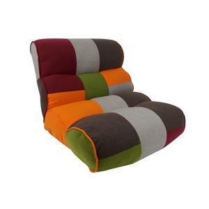 ポケットコイルスプリング 座椅子 【幅44cm】 14段リクライニング ポリエステル ウレタン スチールパイプ 『ルークス』