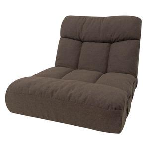 座椅子 スクエア ブラウン 75x76x65cm 42段階リクライニング ポケットコイル - 拡大画像