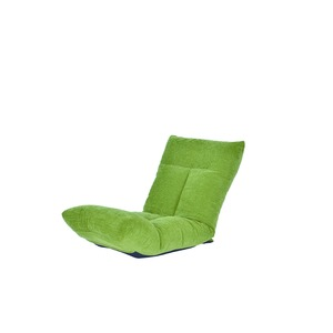 日本製 足上げ リクライニング リラックス 座椅子 リヨン グリーン - 拡大画像