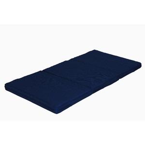 カラーフォーム 軽量 敷布団 かため 体圧分散 通気性 マットレス セミダブル 厚み8cm 洗えるカバー 日本製 7ゾーン ネイビー - 拡大画像