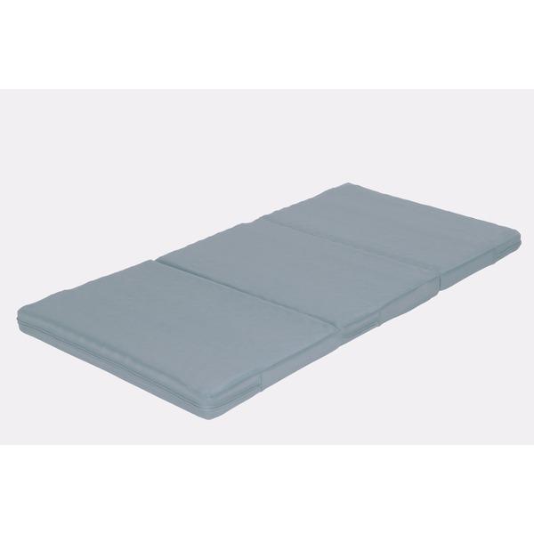 カラーフォーム 軽量 敷布団 かため 体圧分散 通気性 マットレス ダブル 厚み8cm 洗えるカバー 日本製 7ゾーン ライトグレー