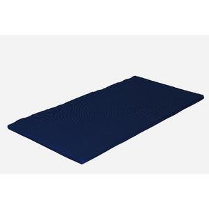 カラーフォーム 軽量 トップマット オーバーレイ かため 体圧分散 通気性 マットレス ダブル 厚み4cm 洗えるカバー 日本製 7ゾーン ネイビー - 拡大画像