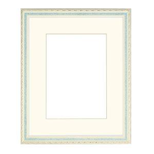 水彩額/水彩画額縁 【水彩F6 グリーン】紐用金具付き 木製