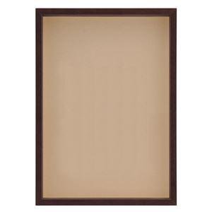 OA額/ポスターフレーム 【ブラウン A4】 表面:アクリル 木製 深型額 『MULTI BOX F OA』 - 拡大画像