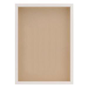 OA額/ポスターフレーム 【ホワイト A3】 表面:アクリル 木製 深型額 『MULTI BOX F OA』 - 拡大画像