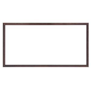 ナチュラル仕様 額縁/フレーム 【横長型 400×250 ブラウン】 吊金具付き 木製 - 拡大画像