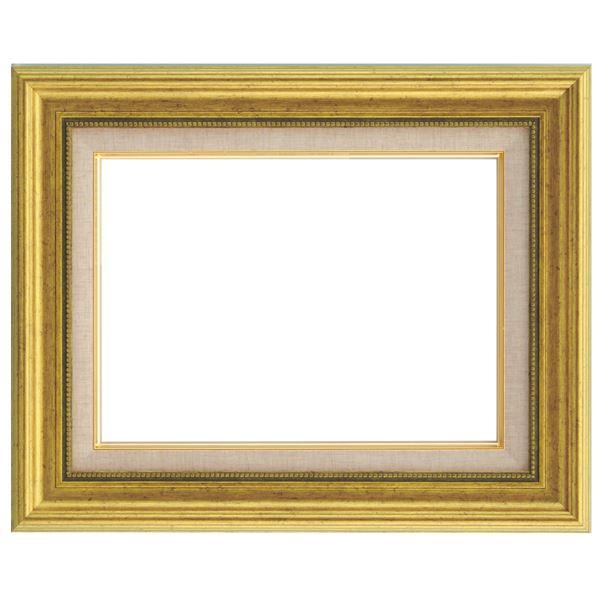 シンプルテイスト 油絵額縁/油彩額縁 【F10 ゴールド】 表面カバー:アクリル 樹脂製 吊金具付き