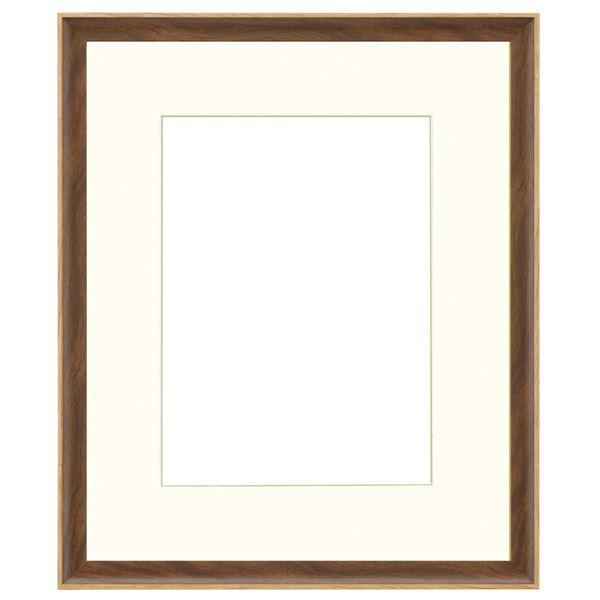 水彩額/水彩用額縁 軽量タイプ 【水彩F8 ブラウン】 表面カバー:UVアクリル 吊金具付き 樹脂製