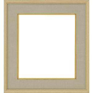 色紙額縁/フレーム 【ナラ ウグイス】刃先面金 吊金具付き 樹脂製 - 拡大画像