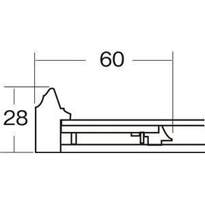 色紙額縁/フレーム 【オリーブ ウグイス】刃先面金 吊金具付き 樹脂製