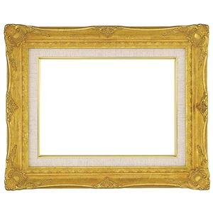 油絵額縁/油彩額縁 【F8 ゴールド】吊金具付き - 拡大画像