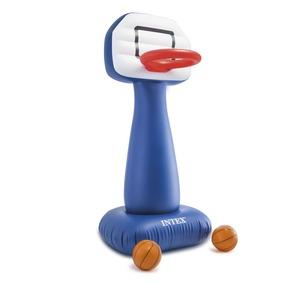 エアーバスケットゴール 【幅約208cm】 ゴール×1個 ボール×2個付き PVC製 『INTEX インテックス シュートインフープセット』 - 拡大画像