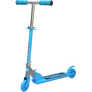子供用キックスケーター/キックボード 【ブルー】 幅64cm×奥行10cm×高さ78cm 折りたたみ アルミ合金 スチール製 『Radical』 - 拡大画像