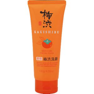 (まとめ)熊野油脂 熊野油脂 薬用 柿渋洗顔フォーム 130g 【×5点セット】 - 拡大画像