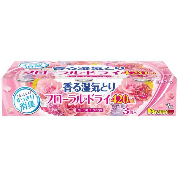 (まとめ)白元アース フローラルドライ420mL フローラルブーケの香り 【×5点セット】