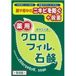 (まとめ)黒龍堂 キュアハーブ クロロフィル石鹸 復刻版 【×3点セット】