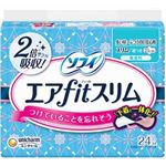 (まとめ)ユニ・チャーム ソフィエアフィットスリム210羽つき24枚 【×5点セット】