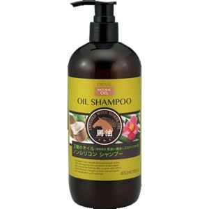 (まとめ)熊野油脂 ディブ 3種のオイル シャンプー(馬油・椿油・ココナッツオイル) 本体 【×3点セット】 - 拡大画像