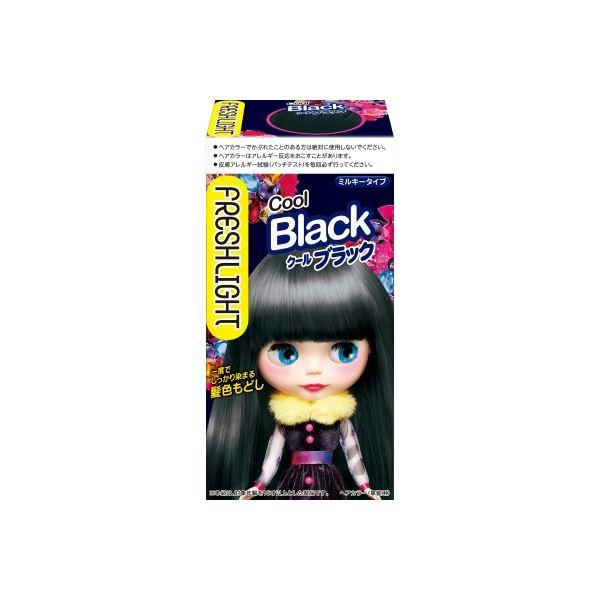 (まとめ)ヘンケルジャパン フレッシュライト ミルキー髪色もどし クールブラック 【×3点セット】