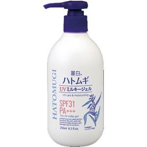 (まとめ)熊野油脂 麗白 ハトムギ UVミルキージェル 【×3点セット】 - 拡大画像