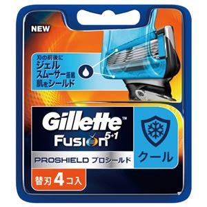 (まとめ)ジレット プロシールド クール替刃4B 【×10点セット】