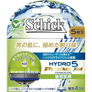 (まとめ)シック(Schick) ハイドロ5プレミアム 替刃 敏感肌用(4コ入) 【×12点セット】