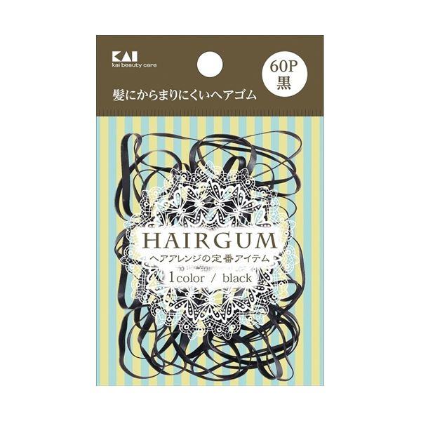 (まとめ)KQ0017 ゴムリング 黒 60本 【× 5 点セット】