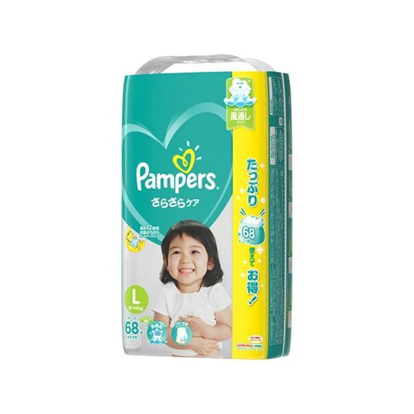 パンパース さらさらケア(テープ) ウルトラジャンボ Lサイズ 68枚