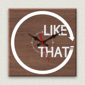壁掛け時計/デザインクロック 30cm角 木材/ウォールナット調素材 『MYCLO』 〔インテリア雑貨 贈り物 什器〕
