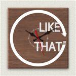 壁掛け時計/デザインクロック 【LIKE THAT】 30cm角 木材/ウォールナット調素材 『MYCLO』 〔インテリア雑貨 贈り物 什器〕