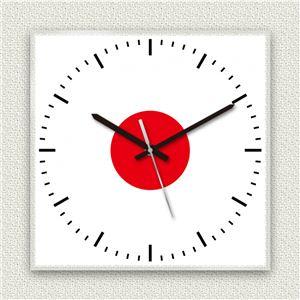 壁掛け時計/デザインクロック 【日本国旗】 30cm角 アクリル素材 『MYCLO』 〔インテリア雑貨 贈り物 什器〕 - 拡大画像