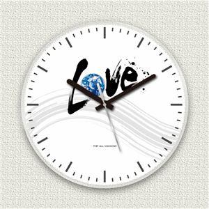 壁掛け時計/デザインクロック 【ラブアース】 直径30cm アクリル素材 『MYCLO』 〔インテリア雑貨 贈り物 什器〕 - 拡大画像